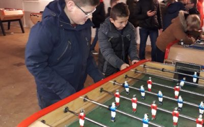 Concours de baby-foot à l'internat