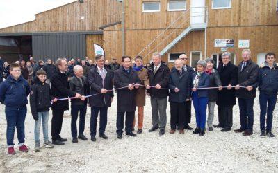 Inauguration bâtiments d'élevage