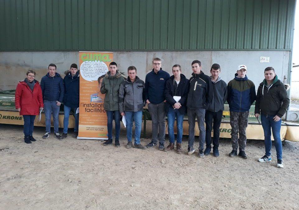 Visite d'une CUMA pour des élèves du lycée agricole de Montebourg